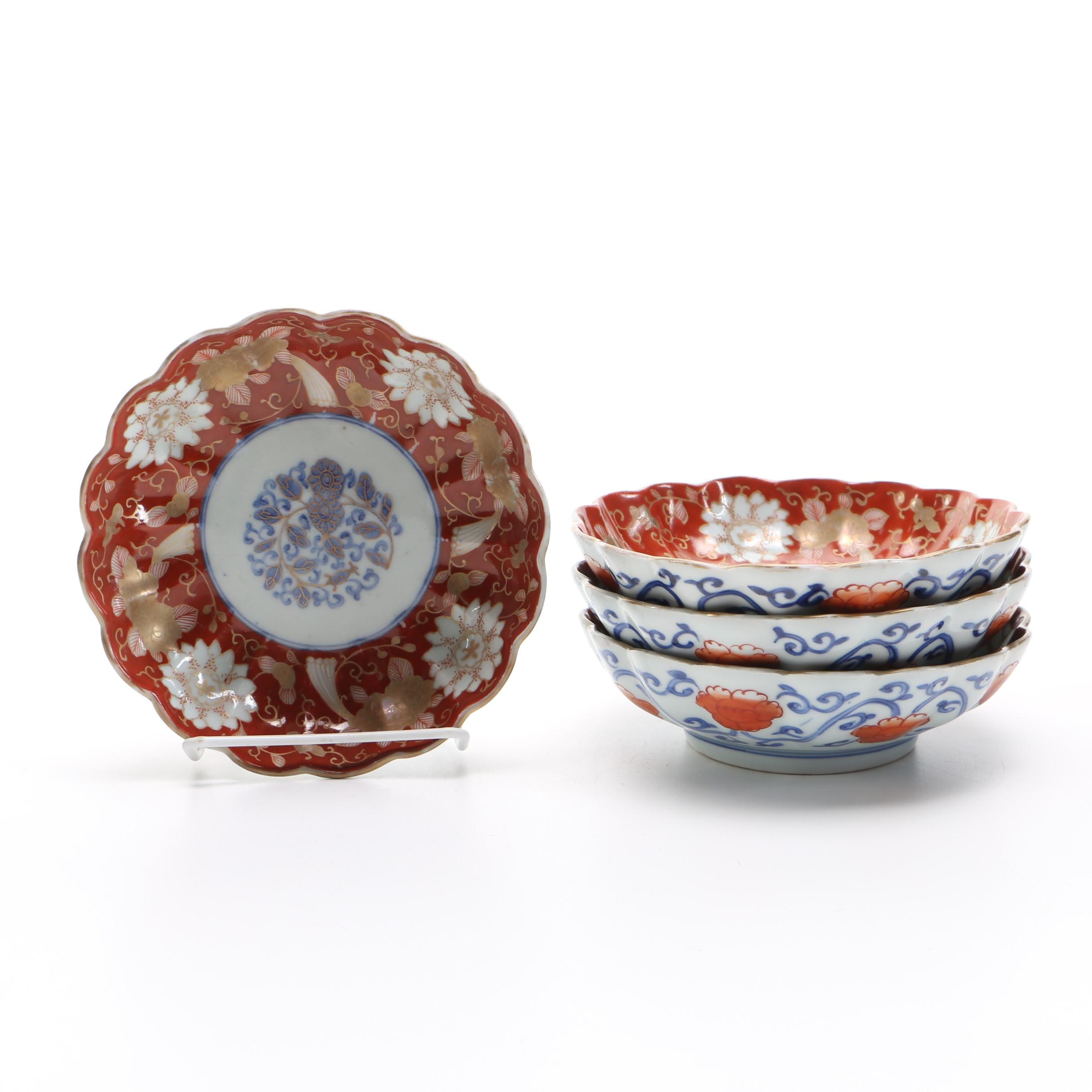 Set of Hand-Painted Chinese Bowls