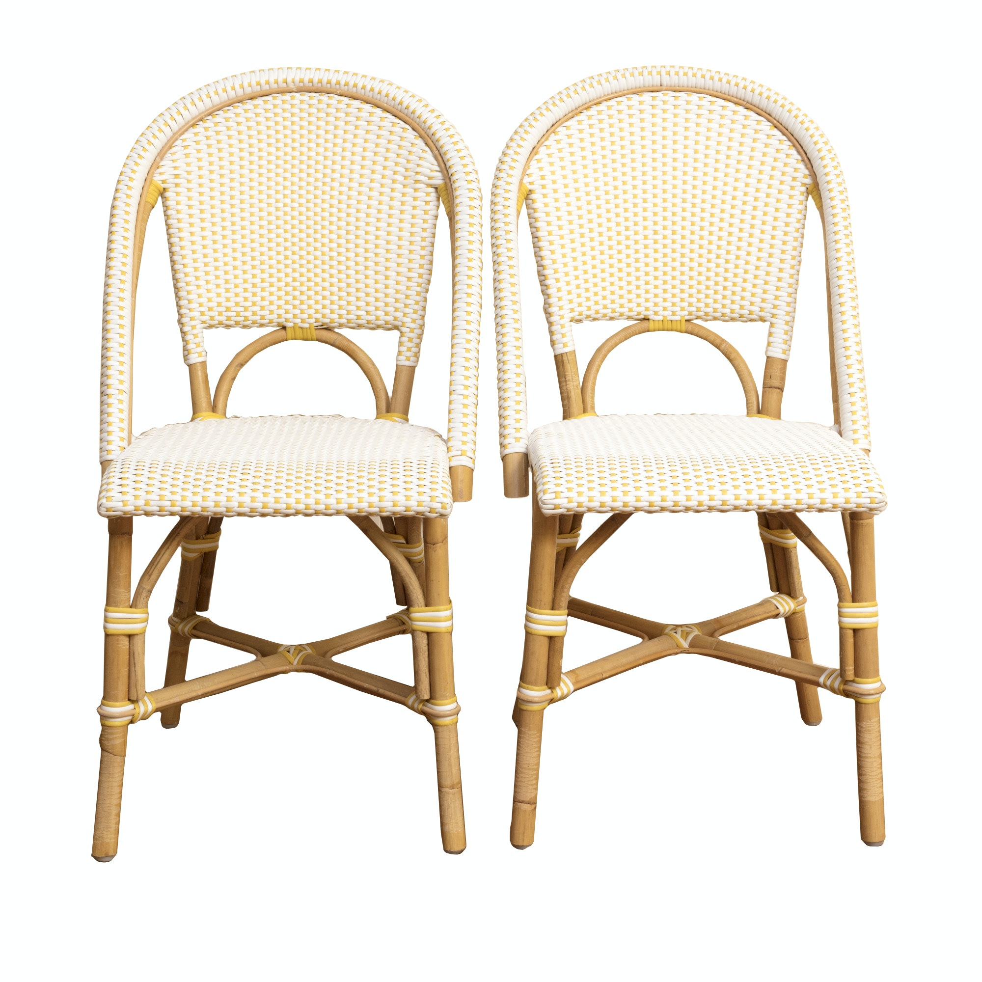 Pair of Faux Bamboo Patio Chairs