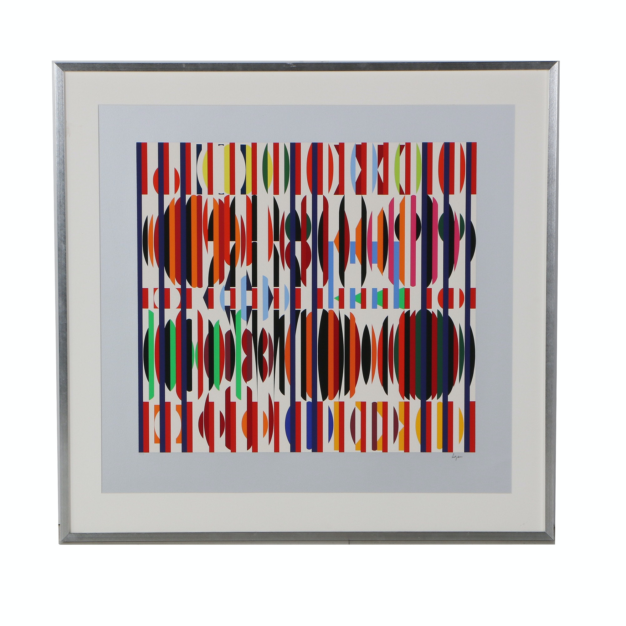 Yaacov Agam Limited Edition Agamograph Abstract Geometric Composition