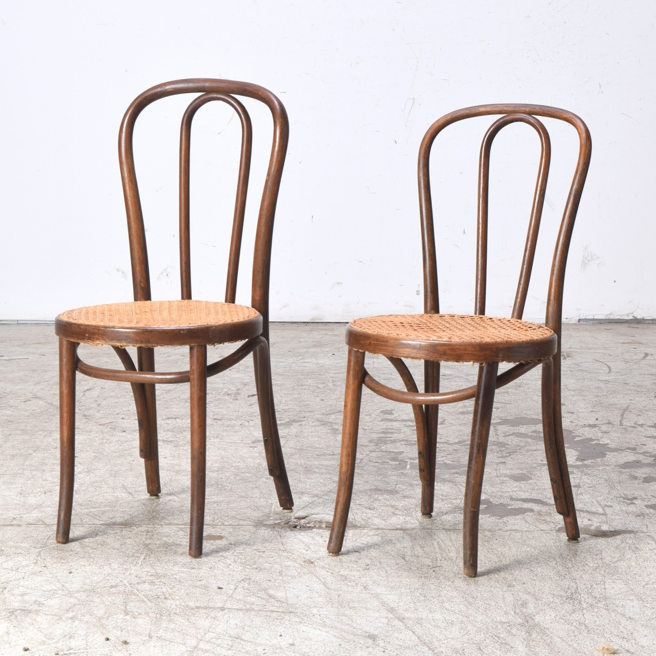 Bentwood Cafe Chairs with Woven Seats