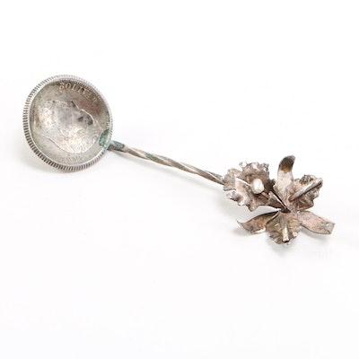 Venezuela Bolivar Silver Coin Spoon