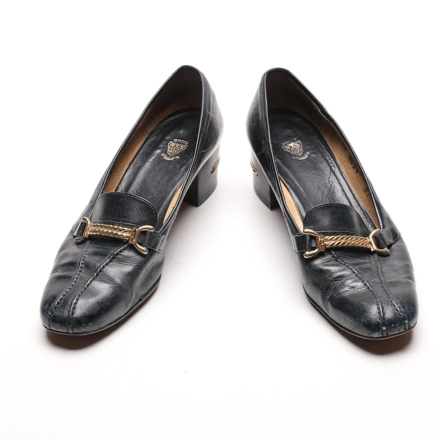471dc53ab Vintage Gucci Leather Loafer Pumps : EBTH