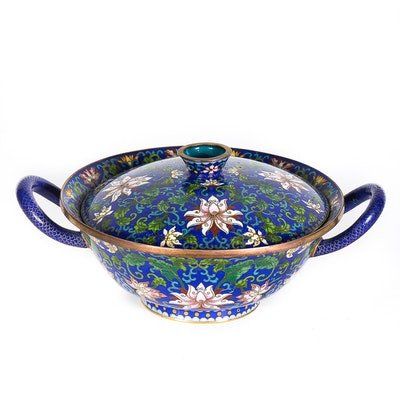 Chinese Cloisonné Bowl with Lid