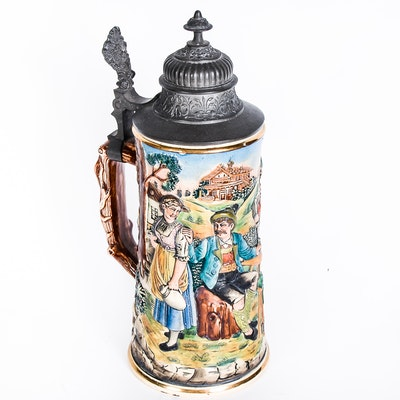 Antique German J.L. Knoedgen Beer Stein