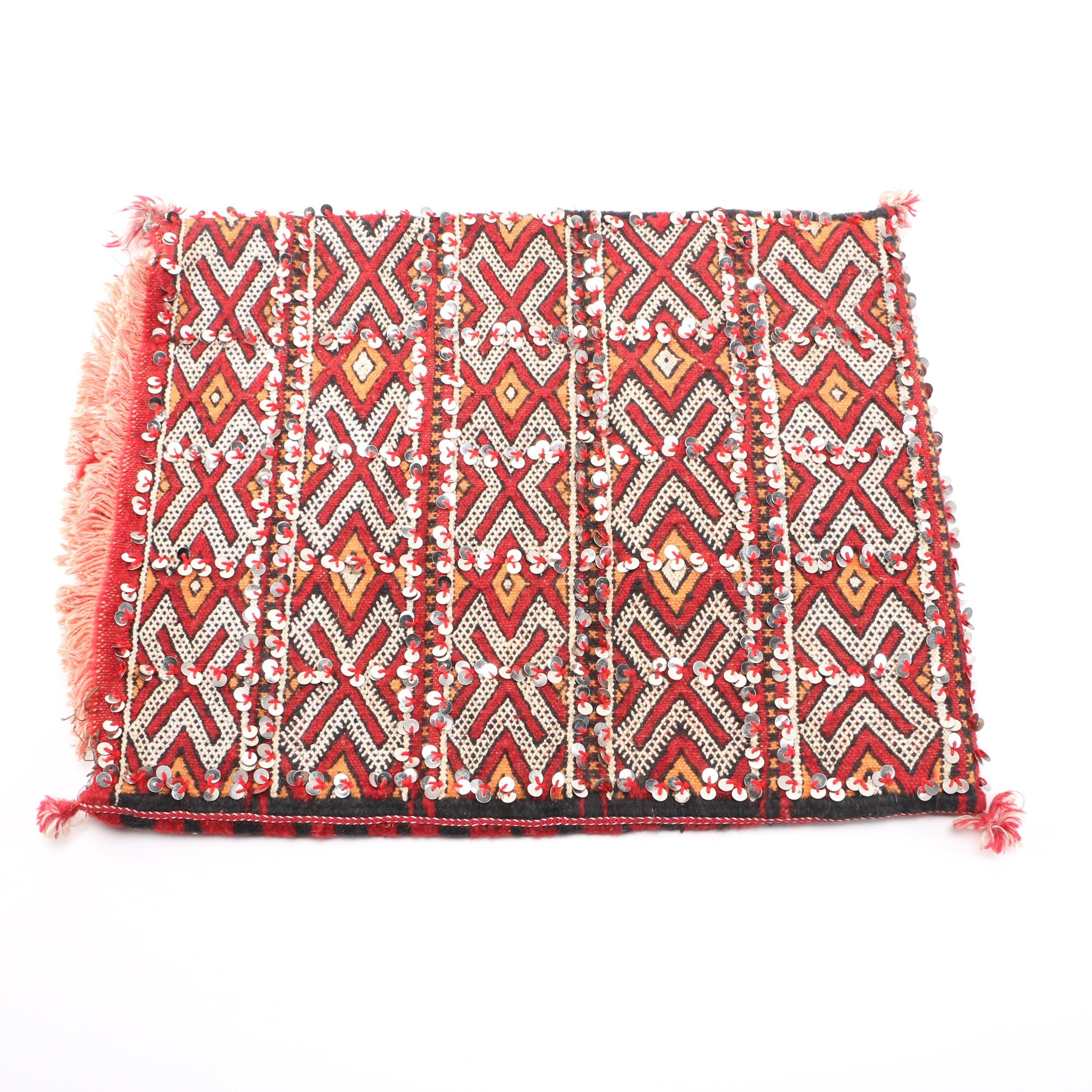 Handwoven Sequined Pillow Cover