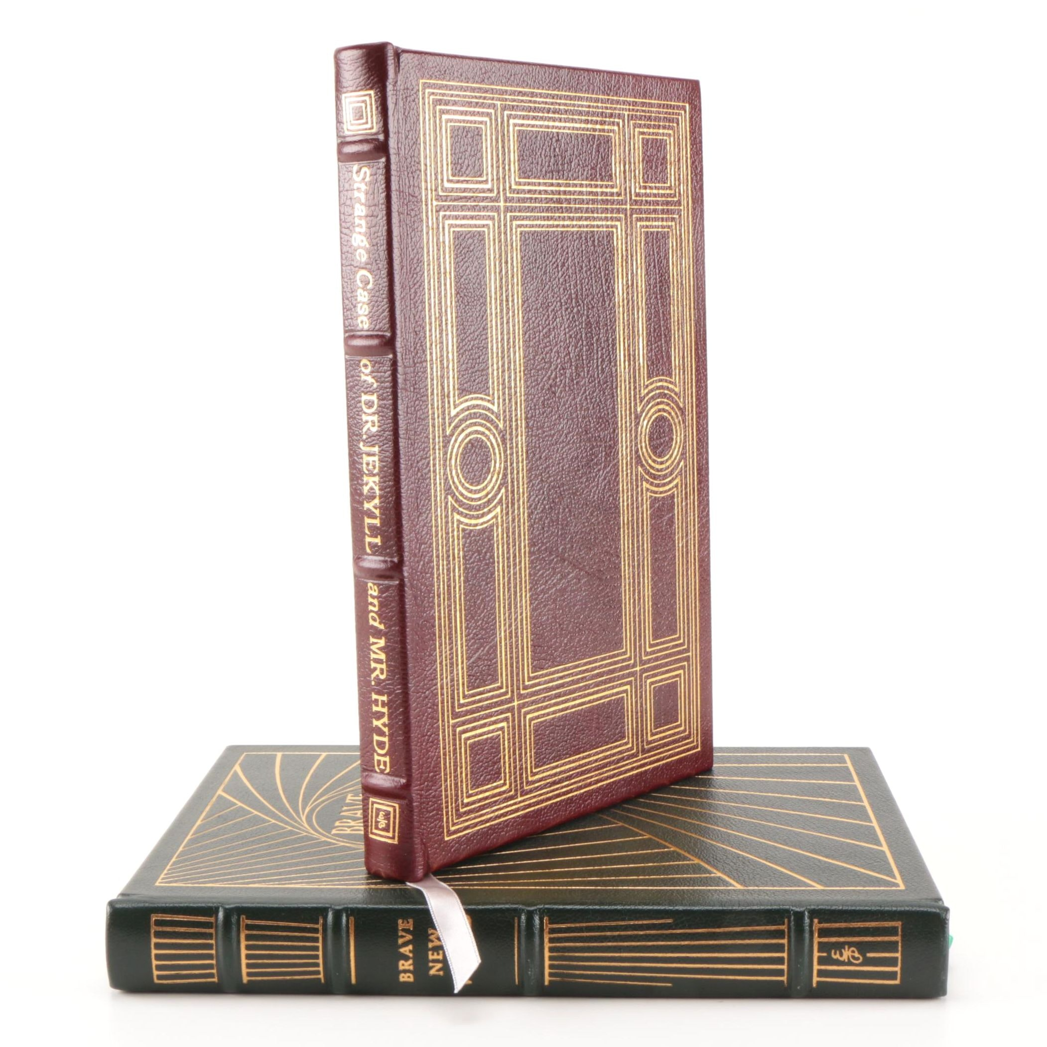 "Easton Press Leatherbound Collector's Editions of ""Brave New World"" and ""Dr. Jekyll and Mr. Hyde"""