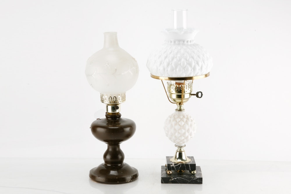 Vintage Oil Lamp Style Table Lamps