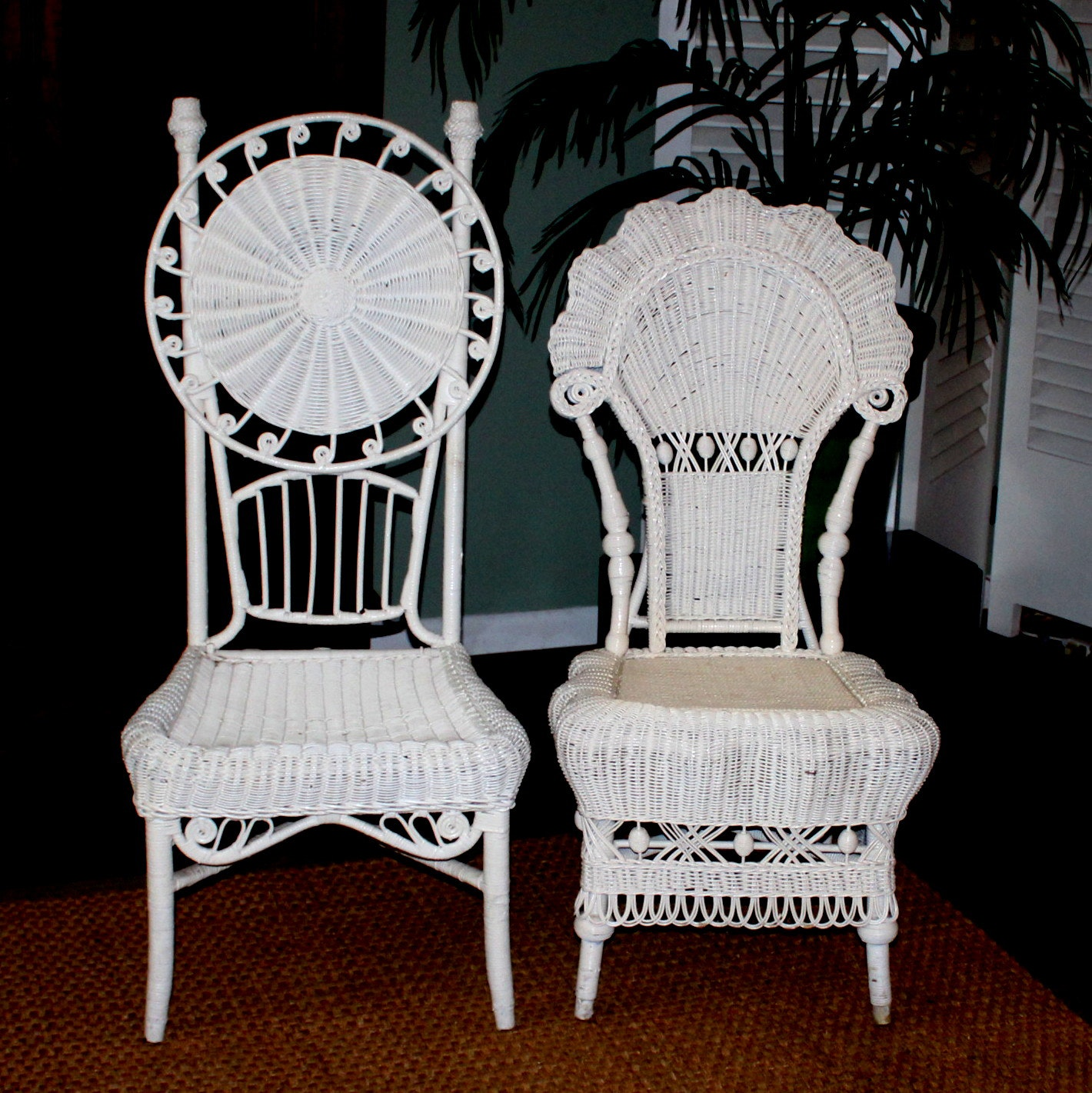Victorian High Back Wicker Chairs ...