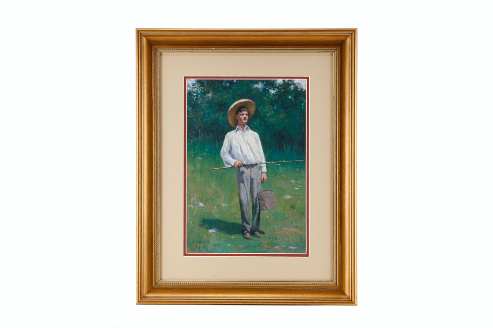 "Paul Sawyier ""Young Kentucky Fisherman"" Limited Edition Print"