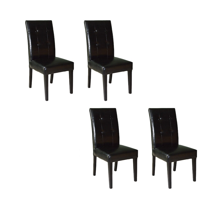 Marvelous Four Bonded Leather Dining Chairs By Pier One Imports Creativecarmelina Interior Chair Design Creativecarmelinacom