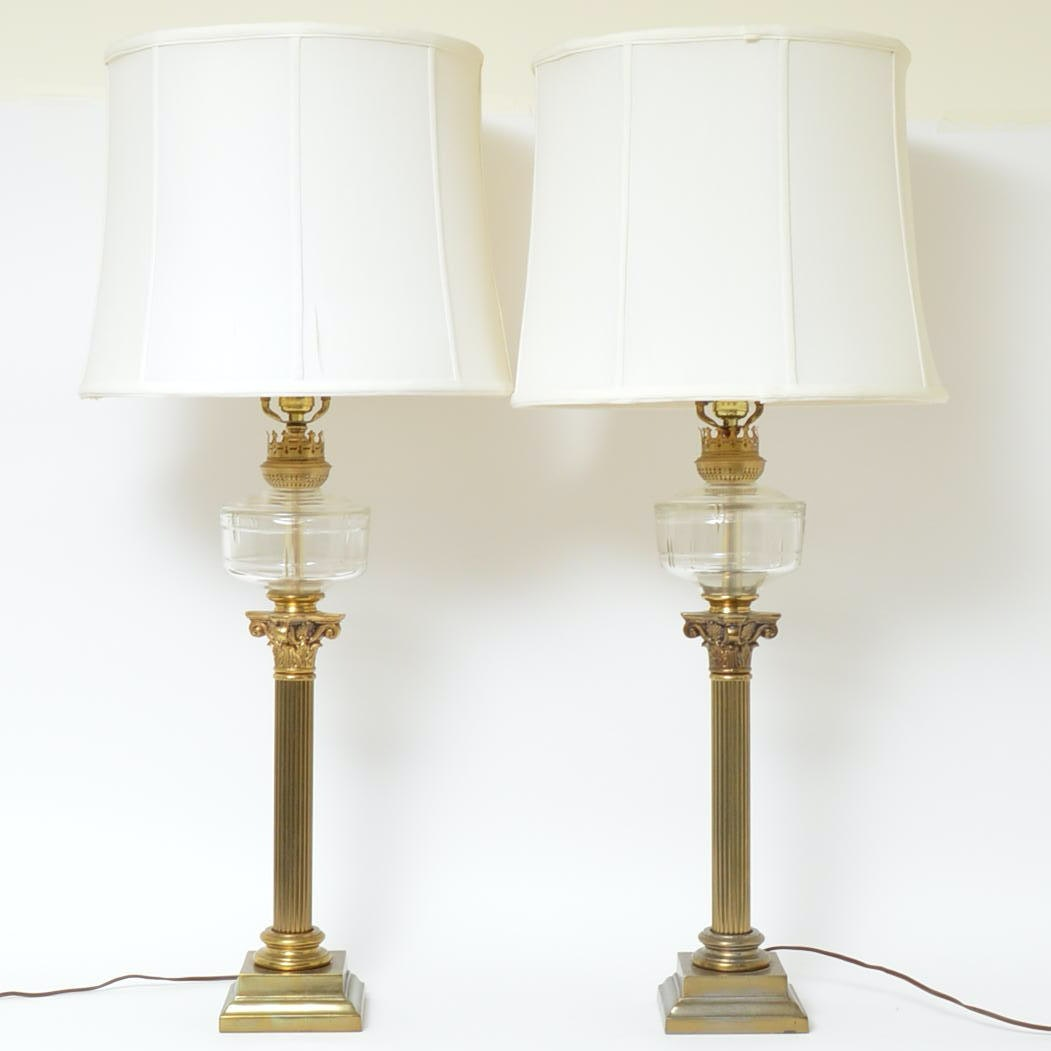 Brass Matching Table Lamps
