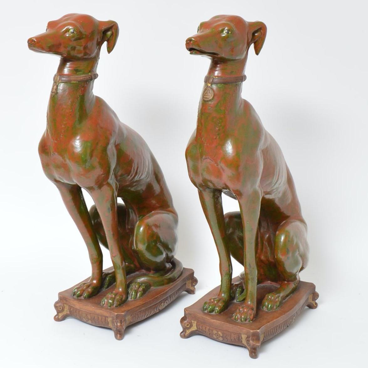 Italian Made Azawakh Dog Statuettes