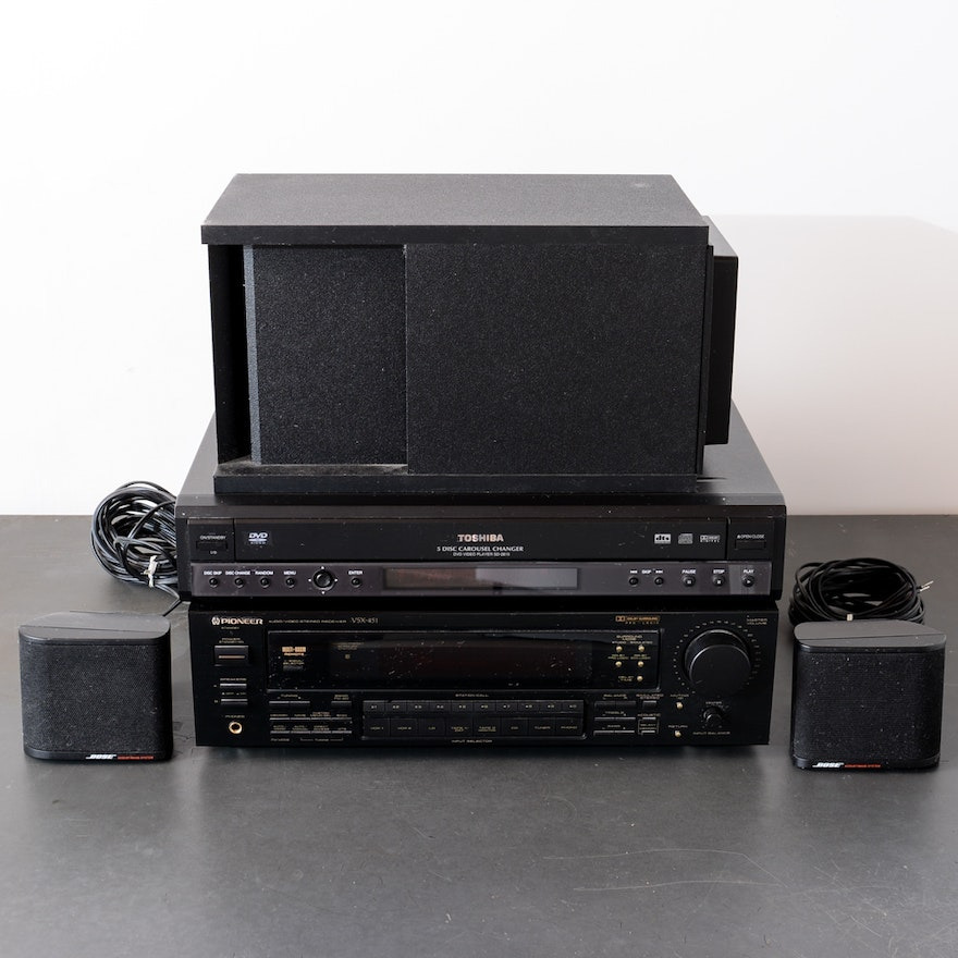 Pioneer Home Theater System, DVD Player and Bose Speakers