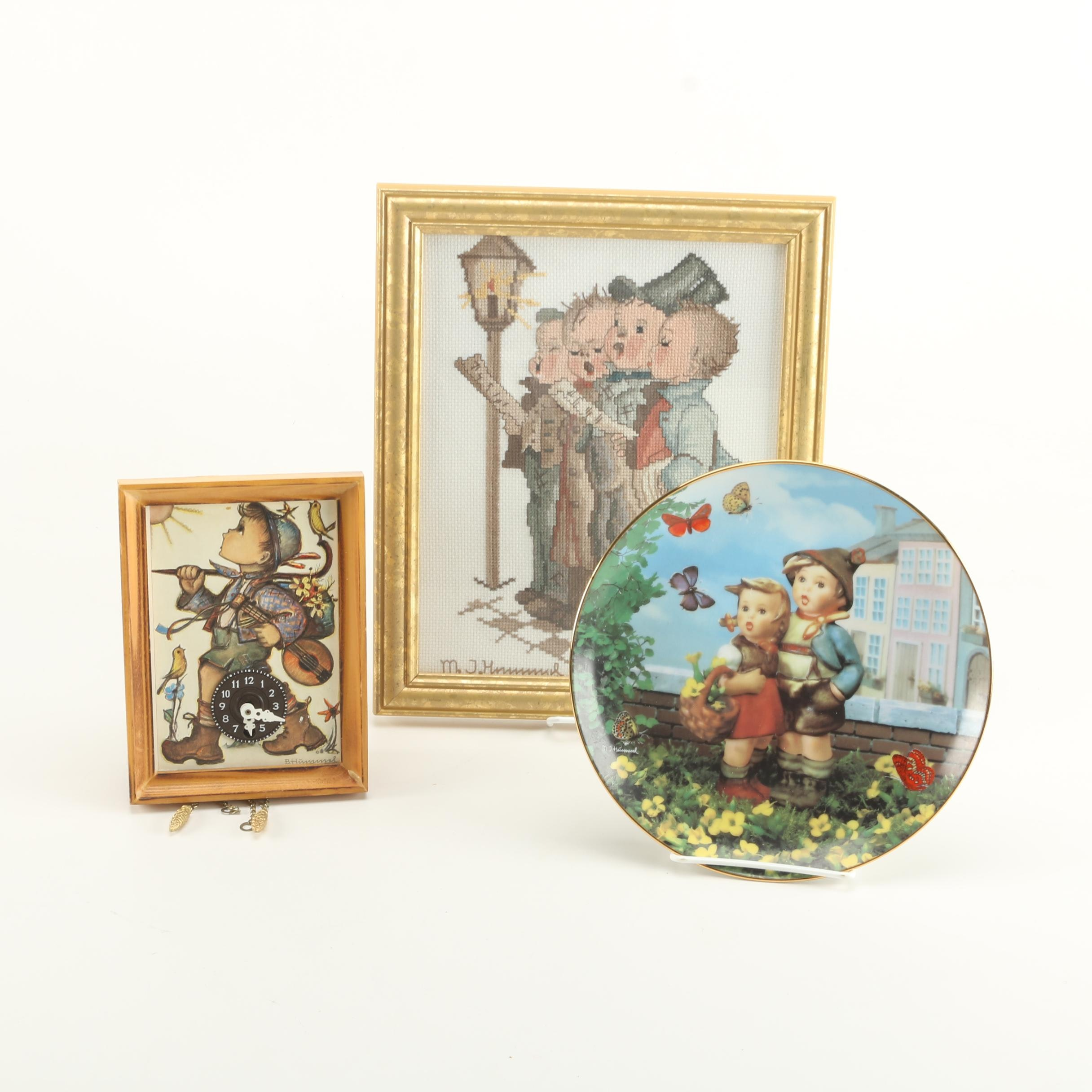 Collection of Hummel Style Themed Decor Including Danbury Mint