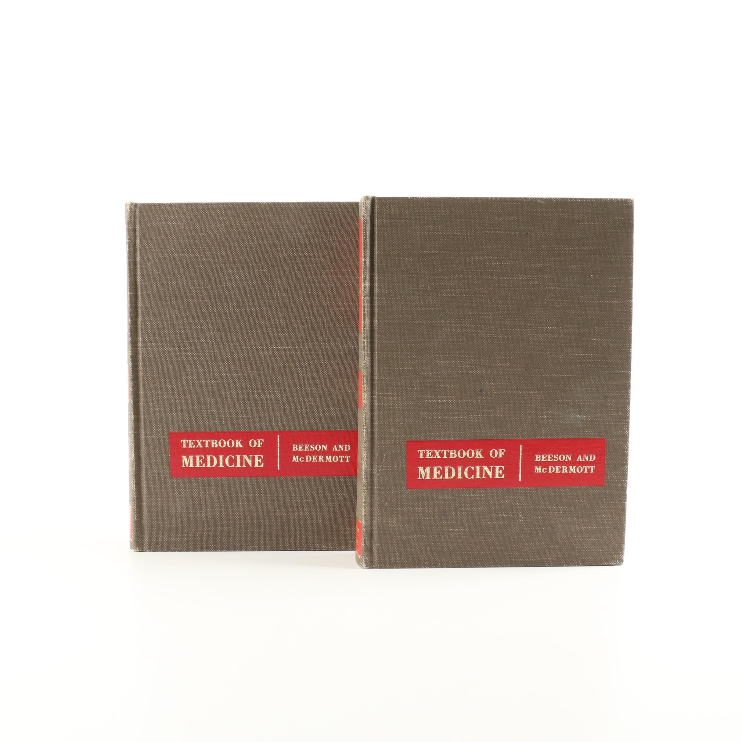"""1963 """"Cecil-Loeb Textbook of Medicine"""" by Beeson & McDermott Volumes I & II"""