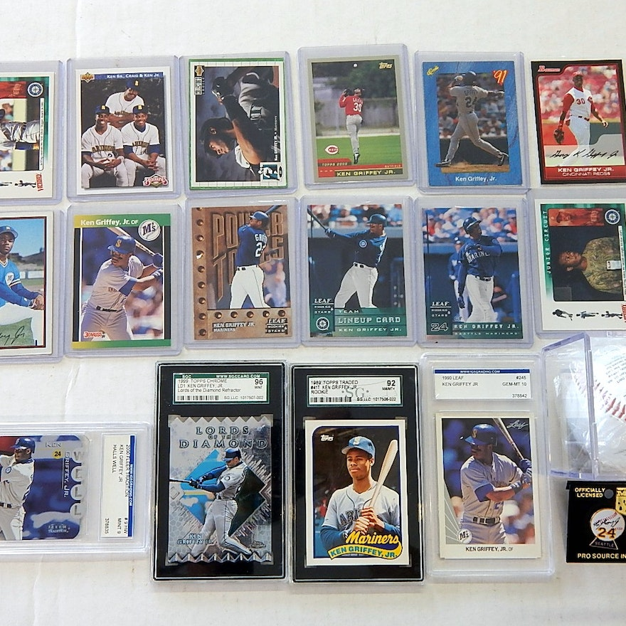 8daeb8feb0 Ken Griffey Jr. Collection with Cards, Baseball, Rookie Cards | EBTH