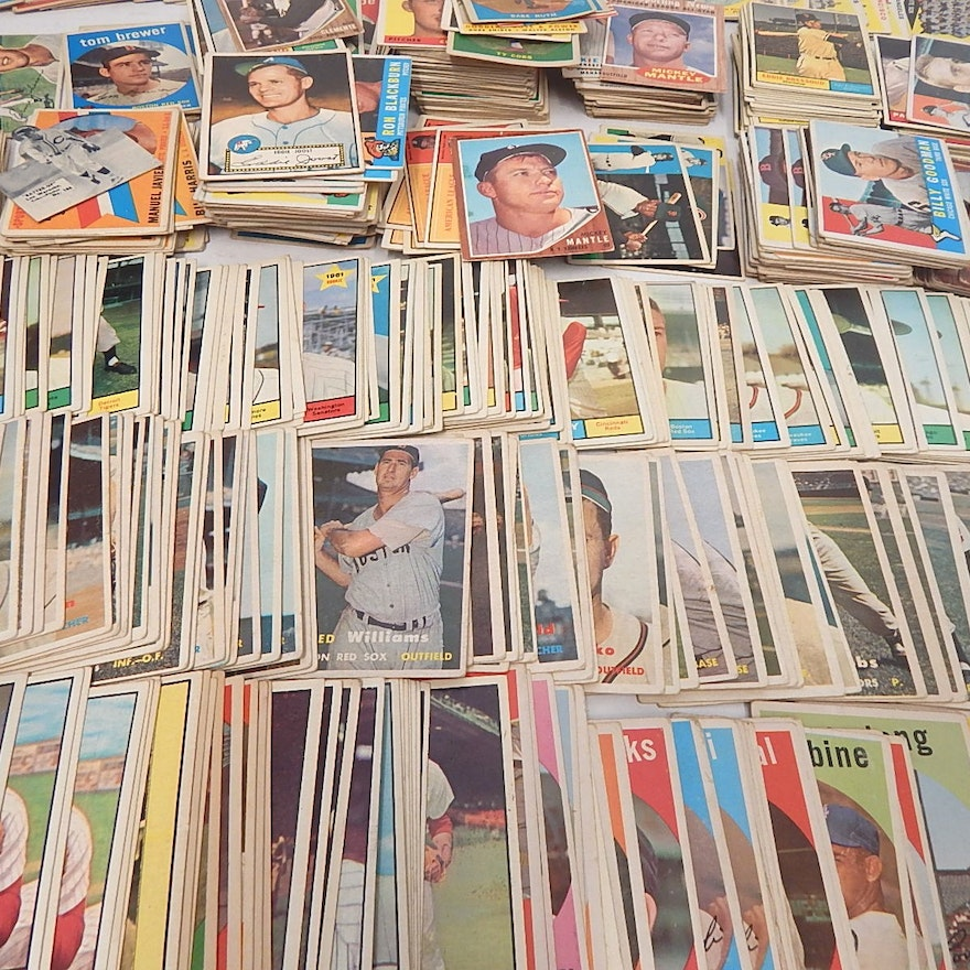 Huge Vintage 1950 To 1962 Topps And Bowman Baseball Card Collection