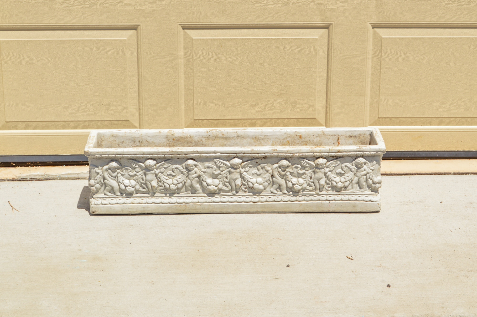 Angel Pattern Concrete Planter