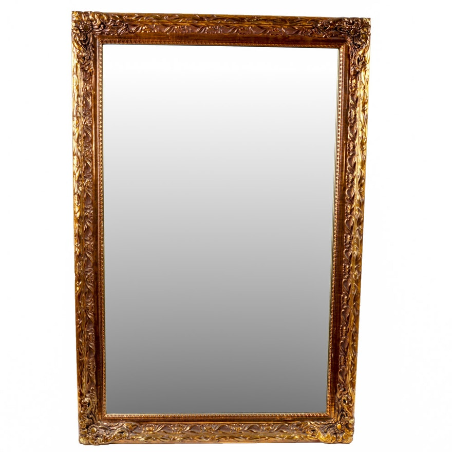 Large Gold Framed Wall Mirror : EBTH