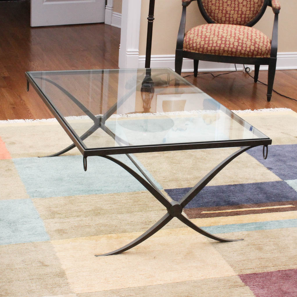 Baker Collection Iron and Glass Coffee Table by Barbara Barry EBTH