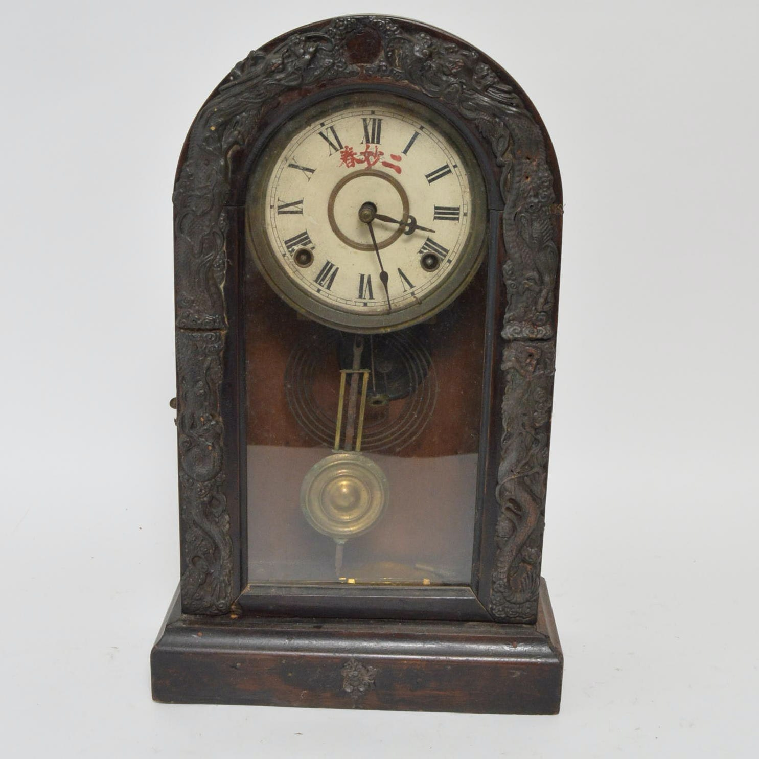 Vintage to Antique Carved Wood Mantel Clock