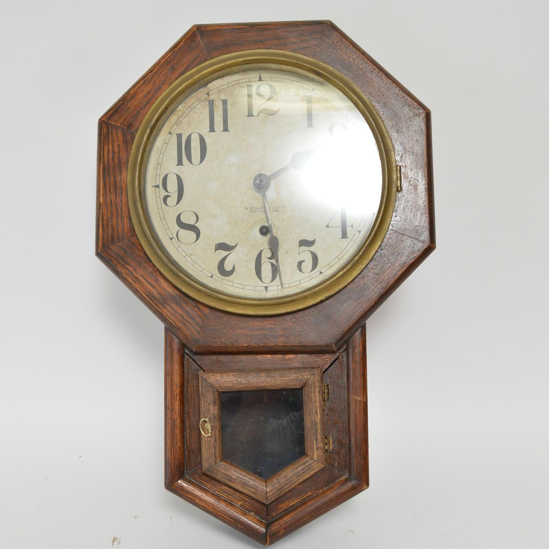New Haven Clock Company Pendulum Clock