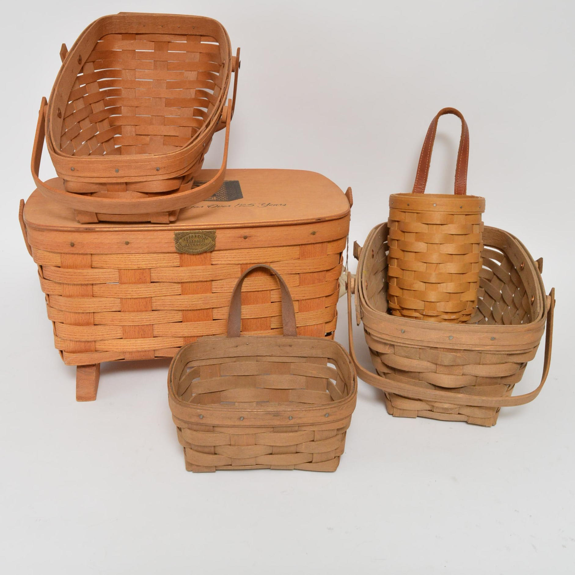 Peterboro and Longaberger Wood Baskets