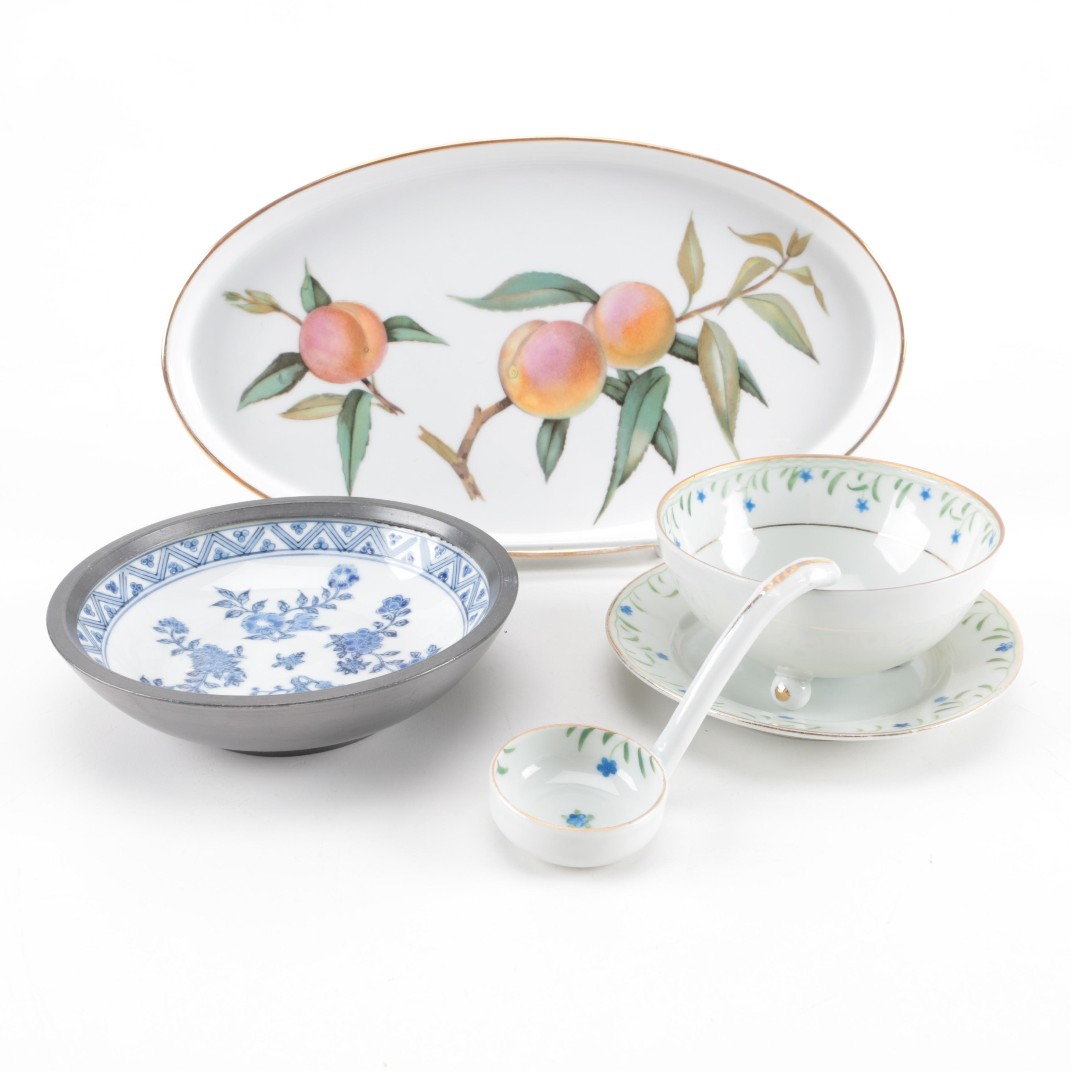 Royal Worcester  Evesham  Oven Proof Dish and a Mayonnaise ...  sc 1 st  EBTH.com & Royal Worcester
