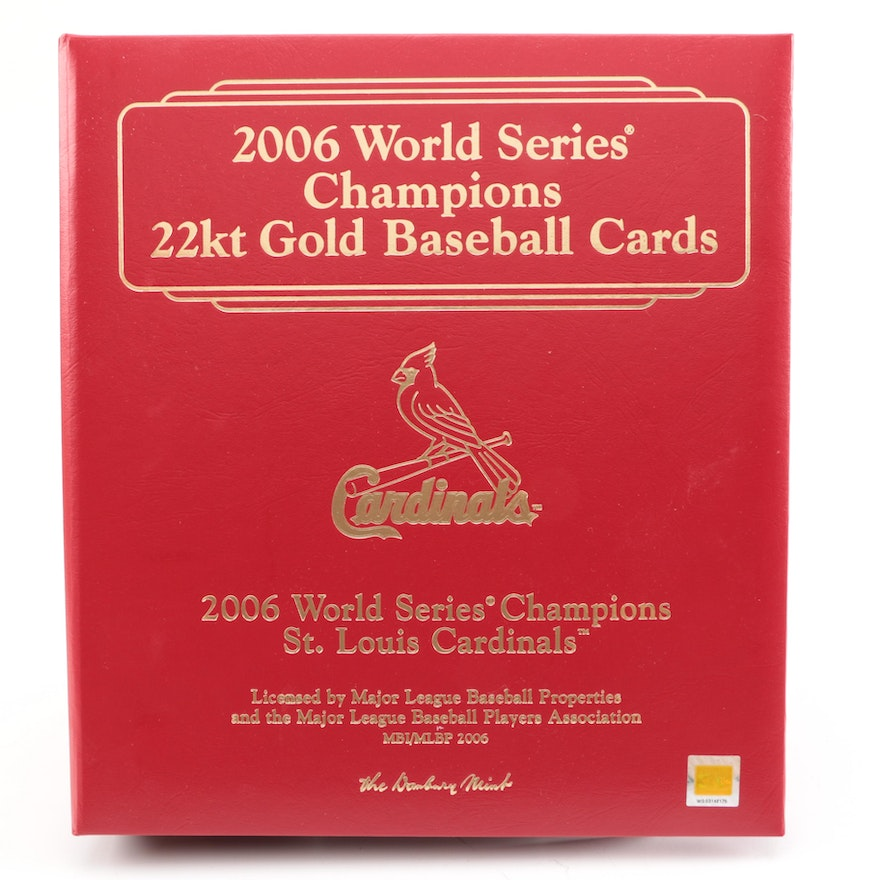 2006 World Series Champions 22kt Gold Baseball Cards EBTH