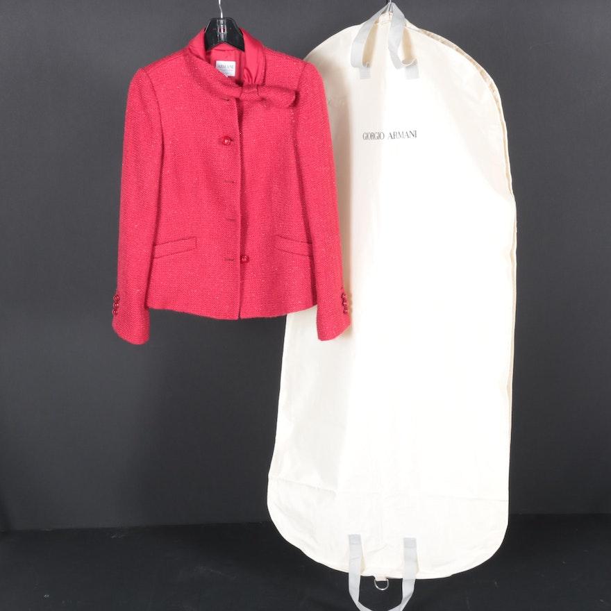 7b72bd00ab21 Women's Armani Collezioni Red Wool Blazer : EBTH