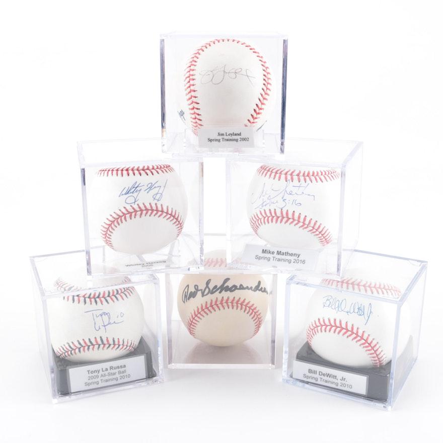 5988b6202ce Encased Signed Baseballs   EBTH