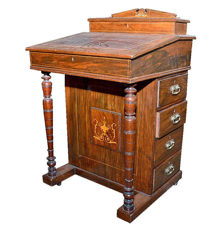 Antique Davenport Desk with Mahogany Finish ... - Antique Davenport Desk With Mahogany Finish : EBTH