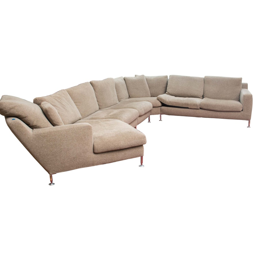 harry large sectional sofa by antonio citterio for b b. Black Bedroom Furniture Sets. Home Design Ideas