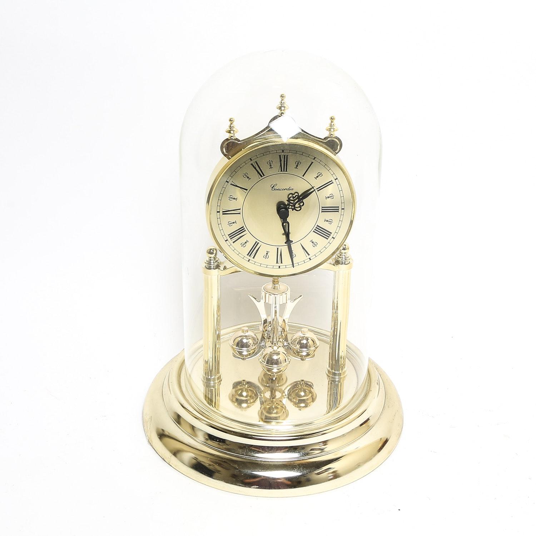 concordia glass dome anniversary clock - Anniversary Clock