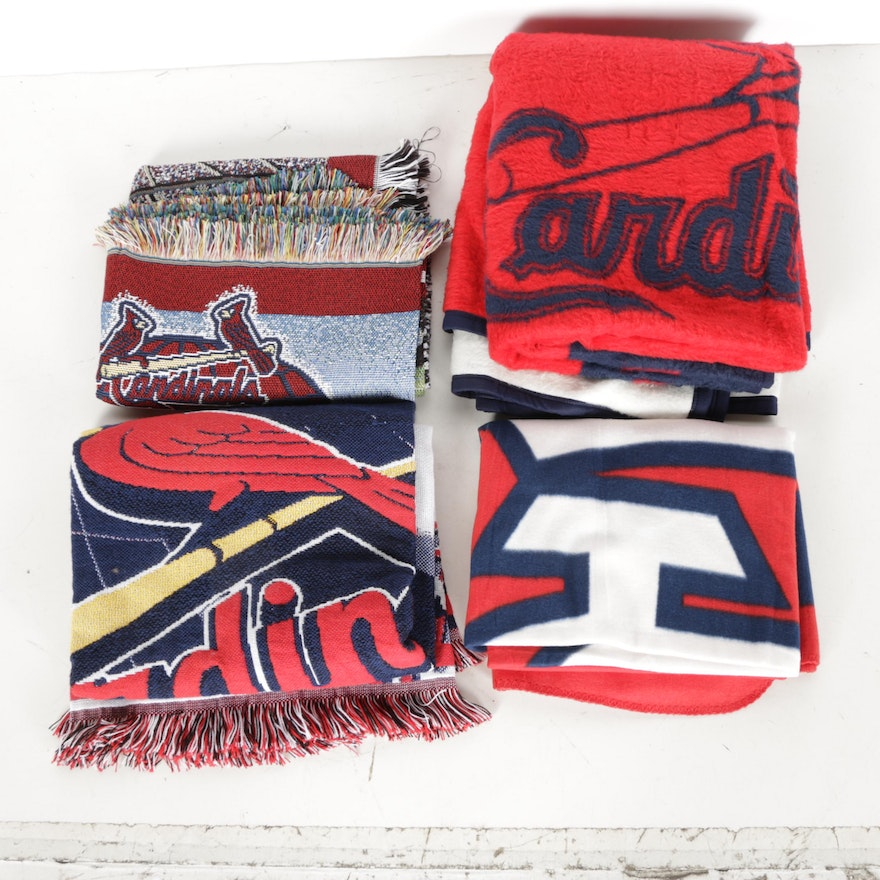 St Louis Cardinals World Series Throw Blankets EBTH Impressive St Louis Cardinals Throw Blanket