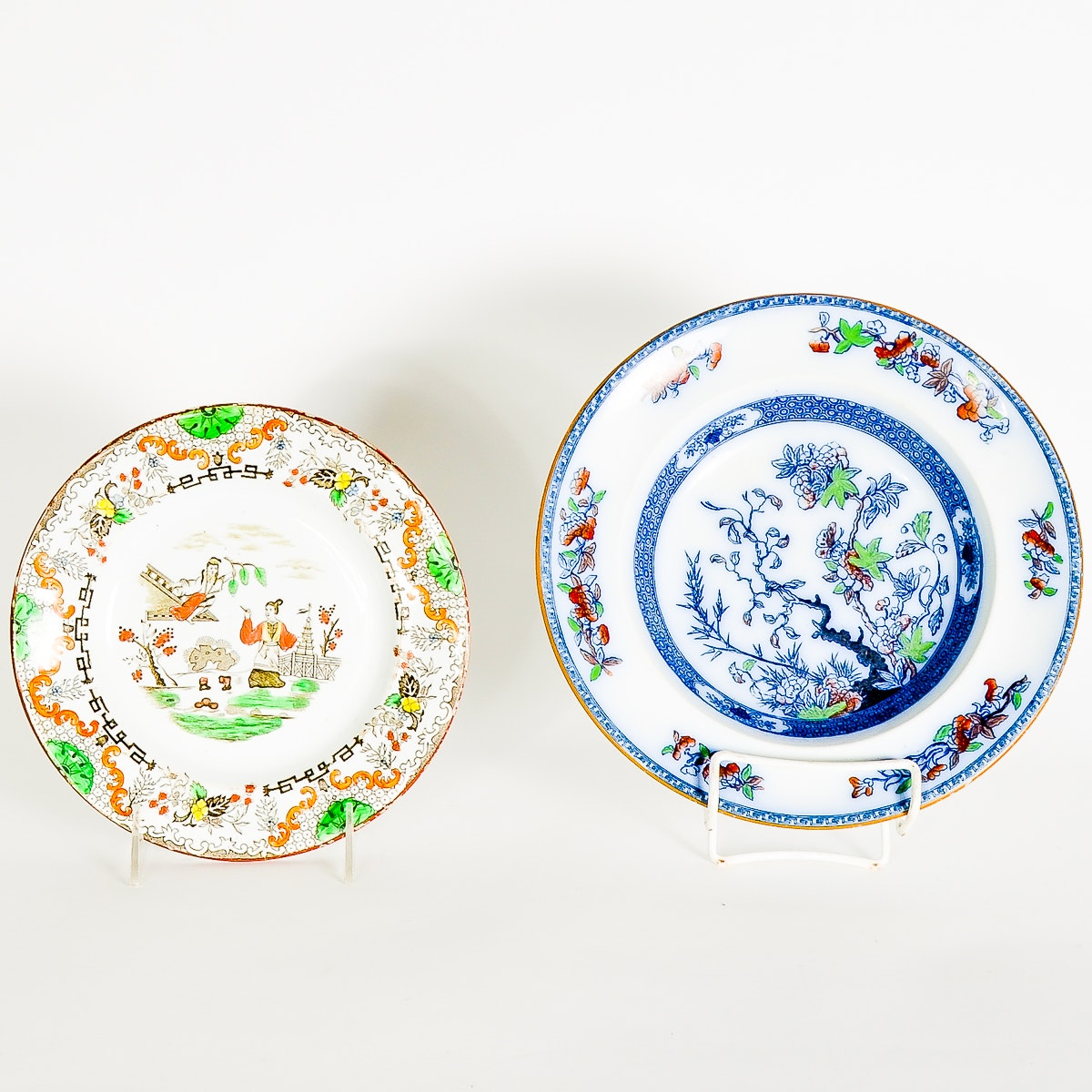 Pair of Vintage Chinese Porcelain Dishes