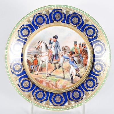 """Porcelain Napoleon """"Bataille de Wagram"""" Cabinet Plate"""