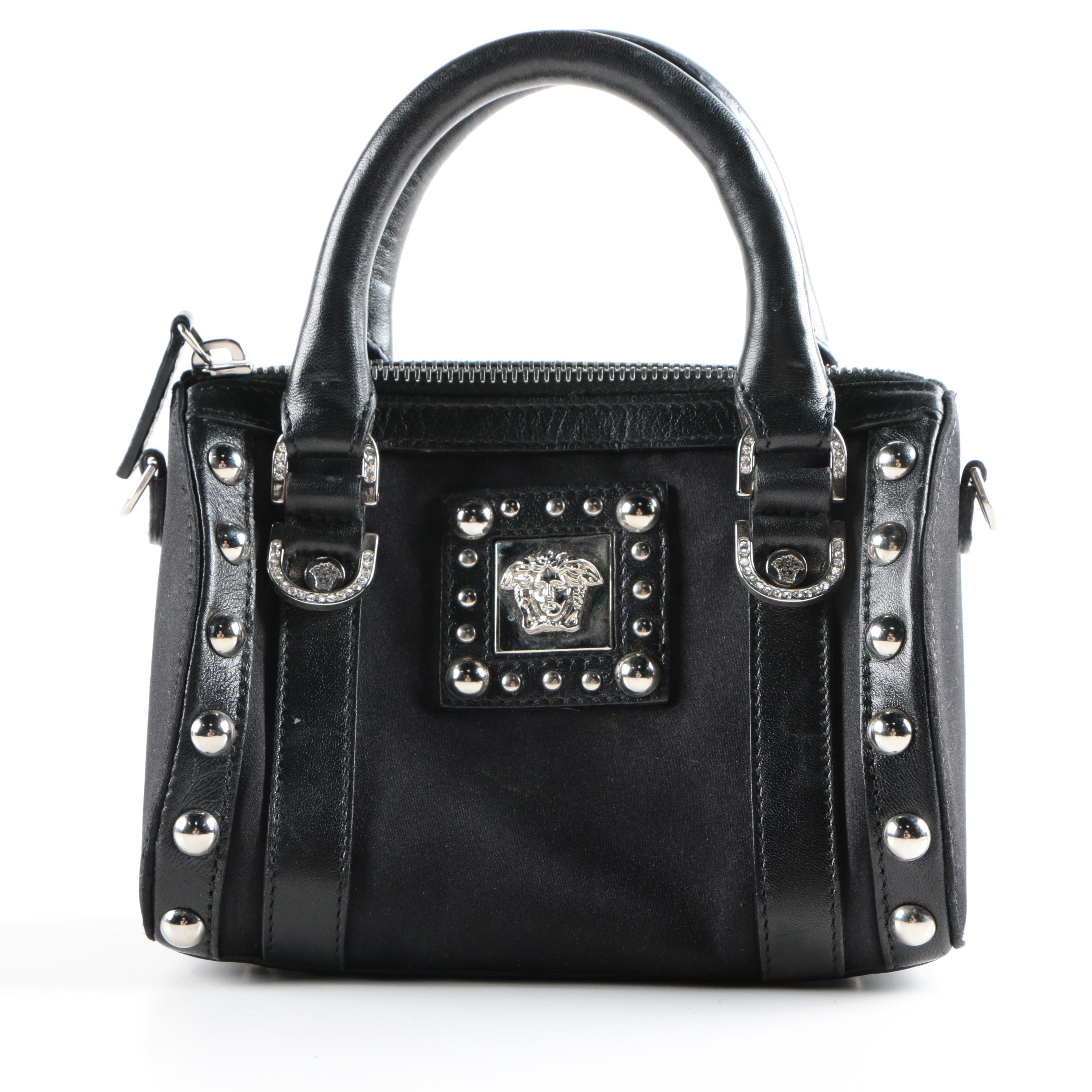 Versace Studded Black Mini Handbag