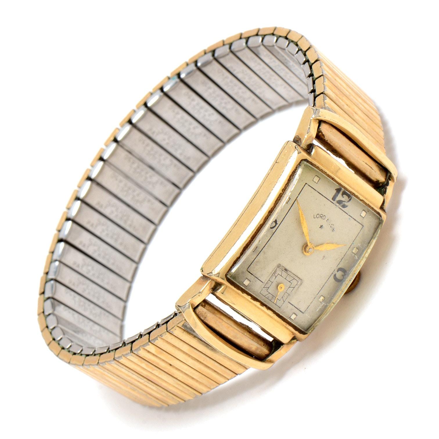 Vintage 14K Gold Filled Lord Elgin Wristwatch