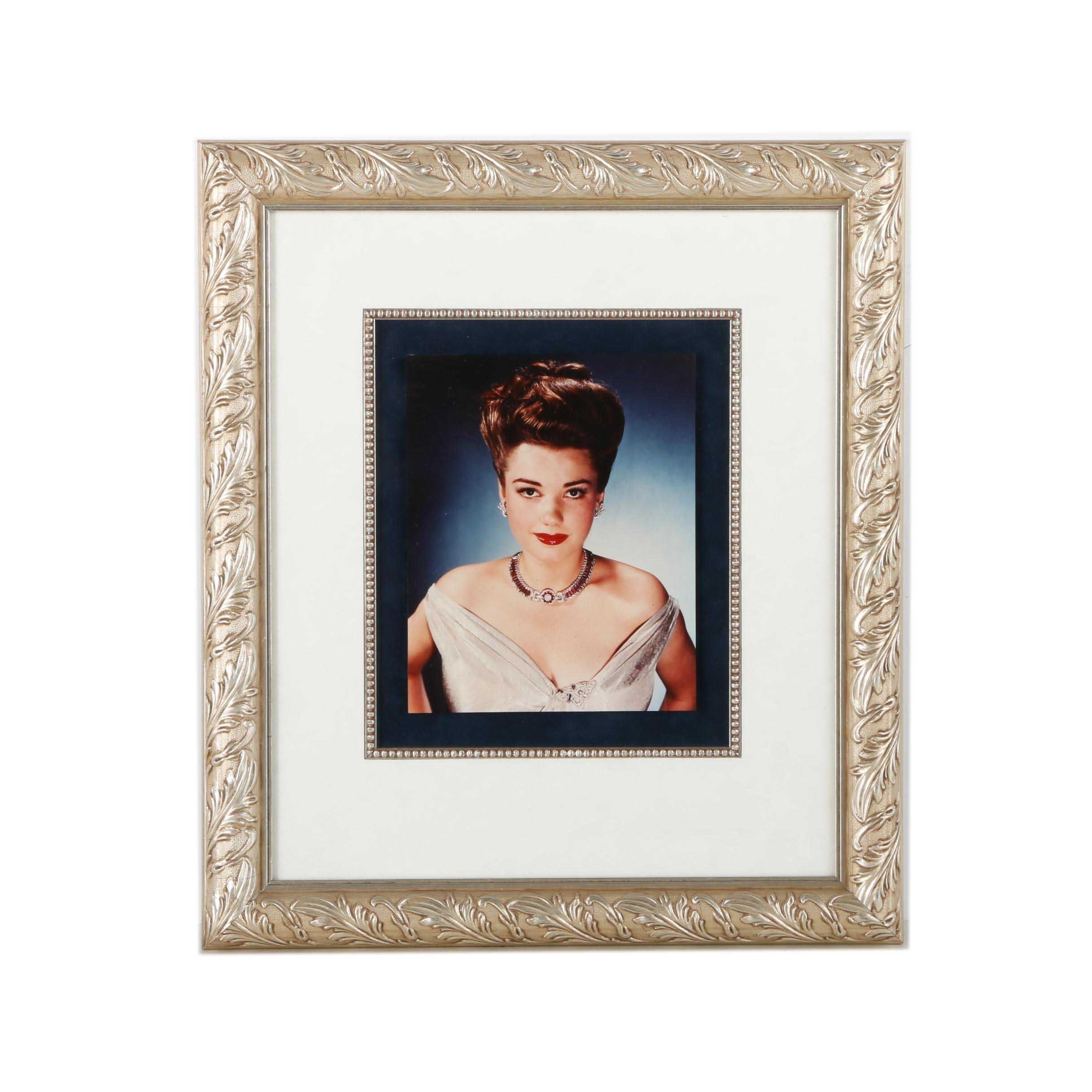 Headshot Photograph of Anne Baxter