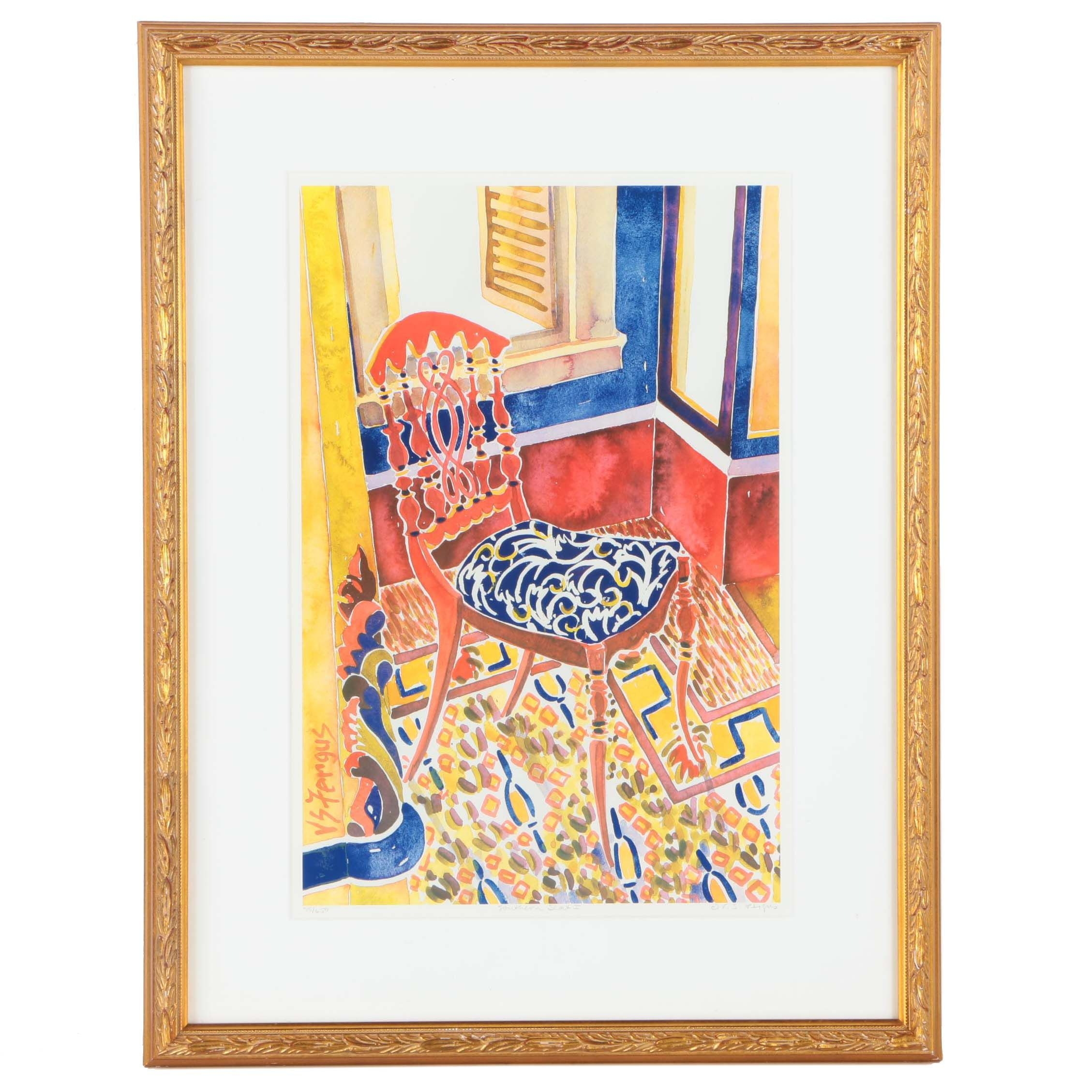 """Virginia Fergus Limited Edition Offset Lithograph """"Southern Seat I"""""""