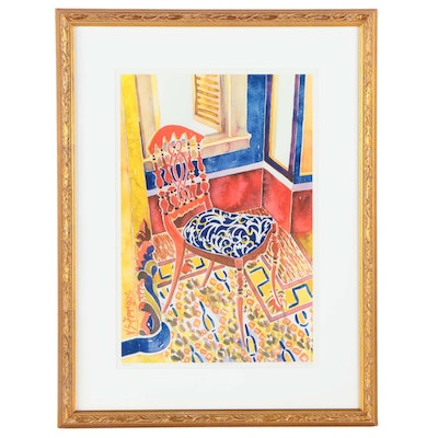 "Virginia Fergus Limited Edition Offset Lithograph ""Southern Seat I"""