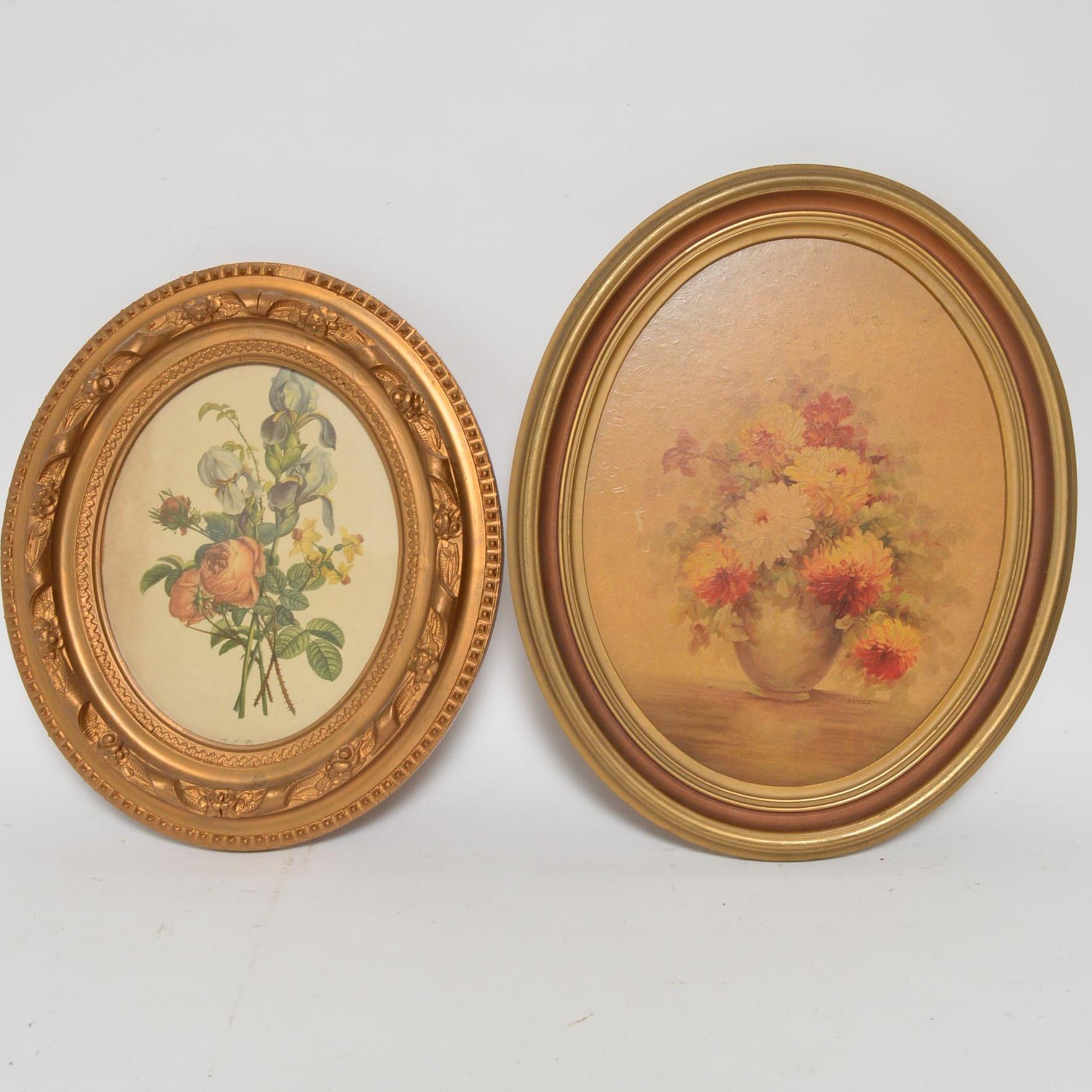 Framed Floral Wall Decor