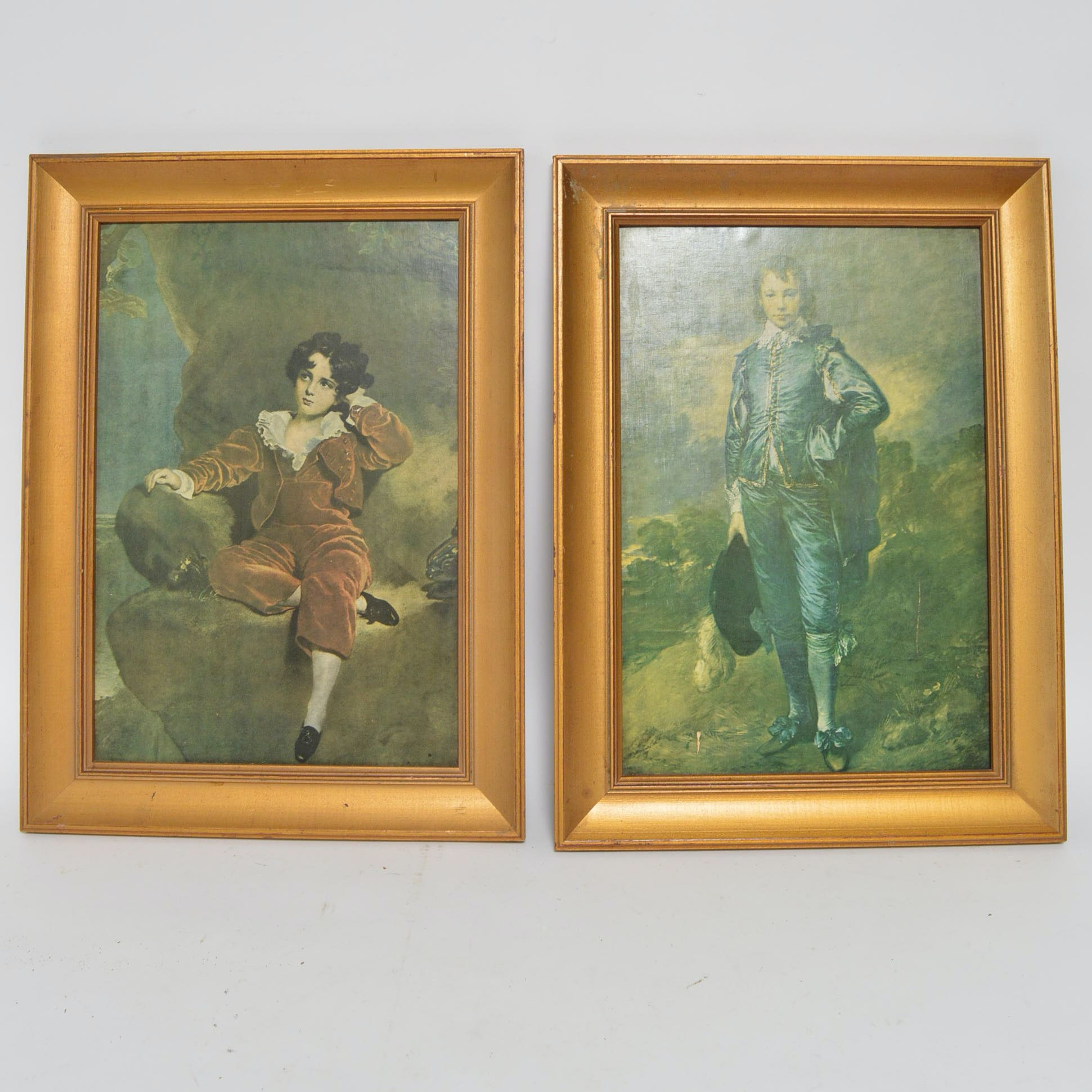 Vintage Framed Offset Lithographs by Lawrence