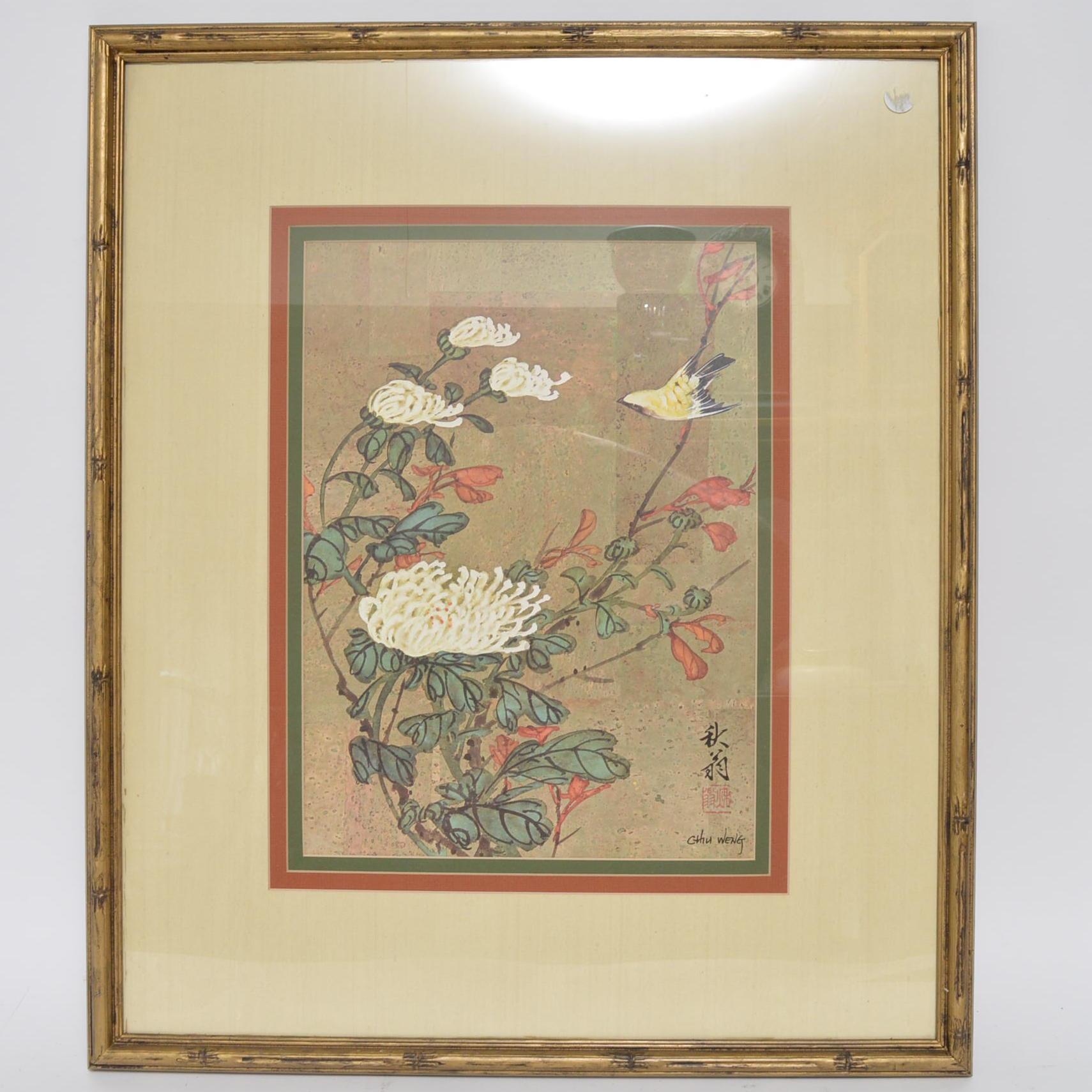 Offset Lithograph After Chiu Weng