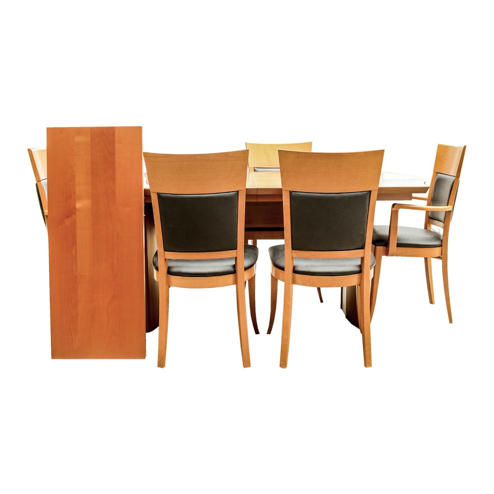 Contemporary Italian Dining Table and Five Chairs