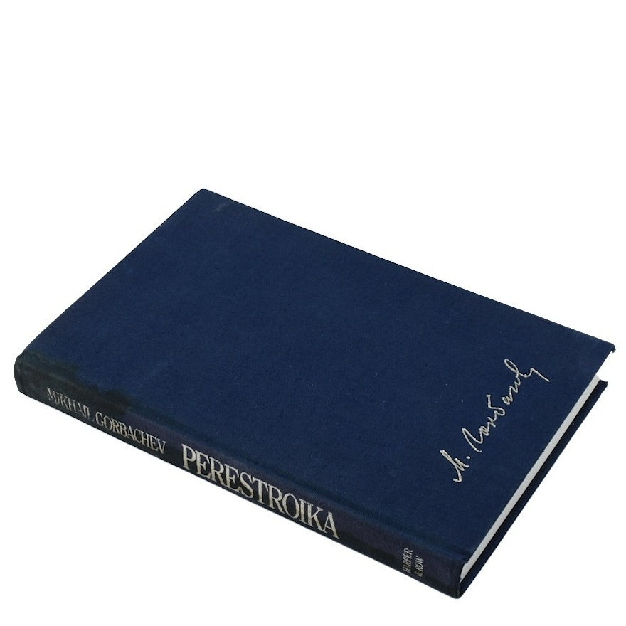 """First Edition """"Perestroika"""" Signed by Mikhail Gorbachev"""