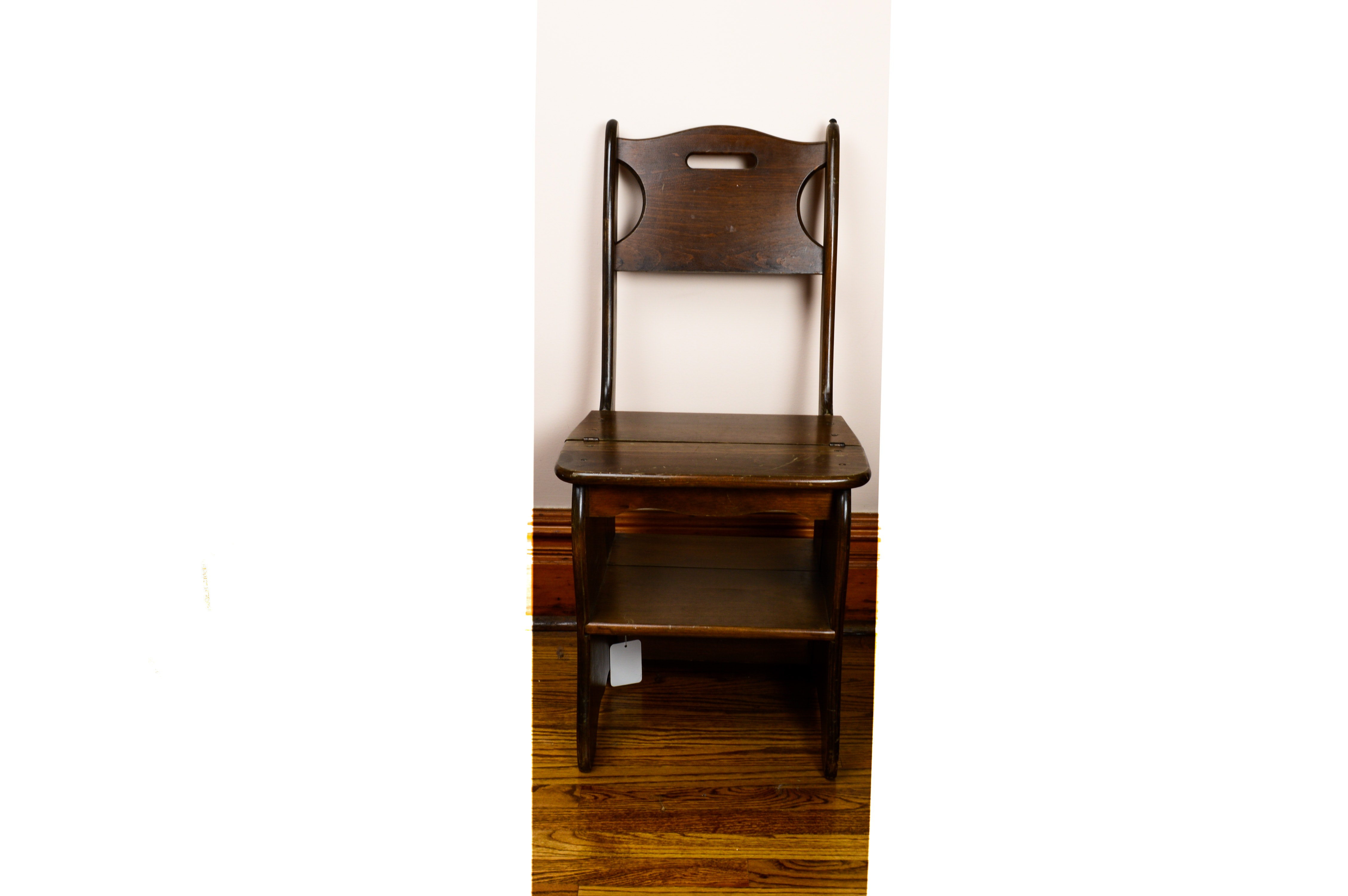 Franklin Style Metamorphic Library Chair Ladder Ebth Rh Ebth Com Chair  Ladder Combination Benjamin Franklin Library