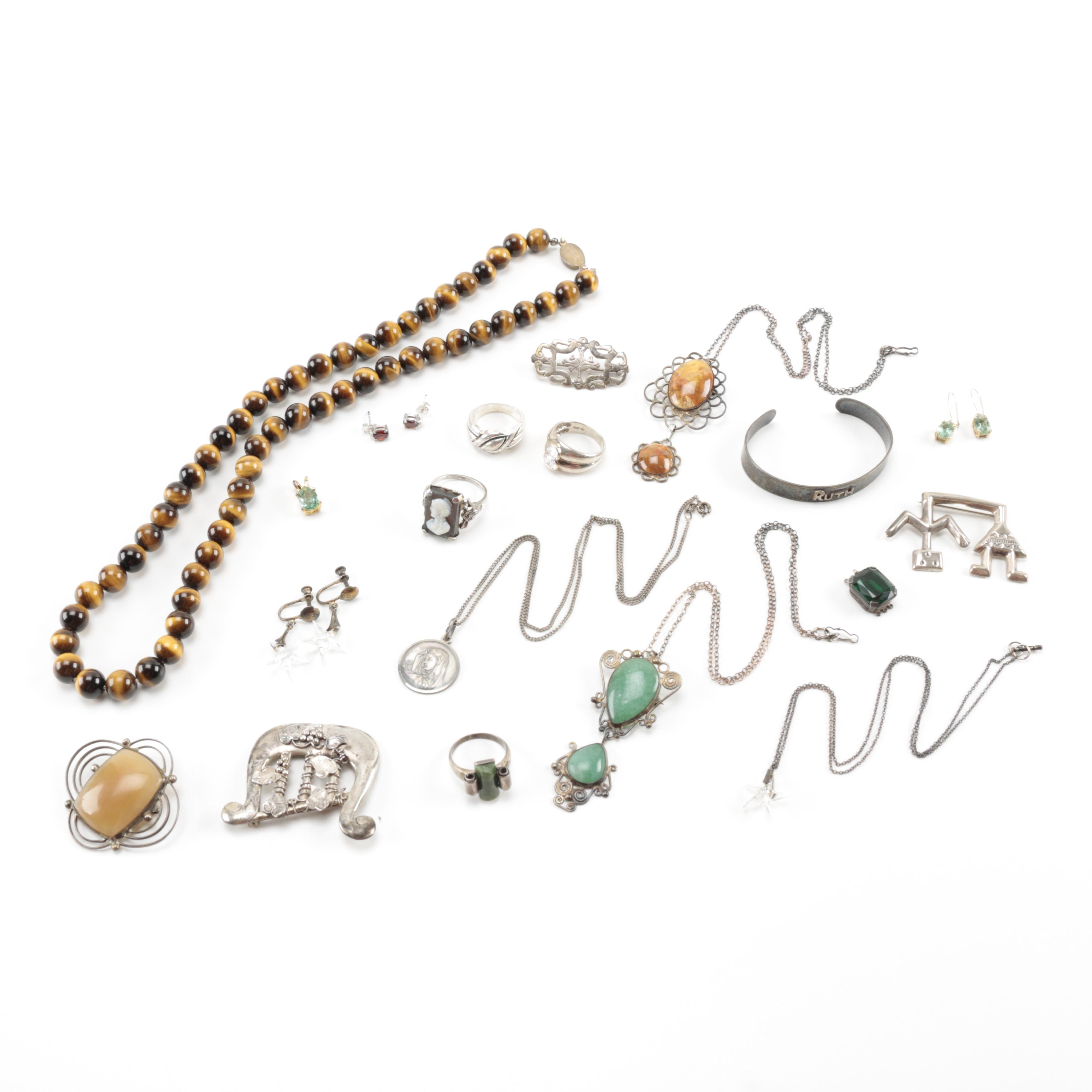 Sterling Silver Jewelry Including Vintage Pieces