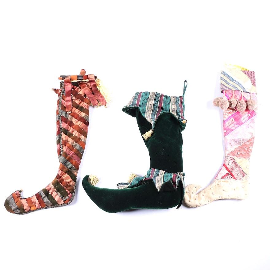 74b00989c5b Collection of Elf Stockings   EBTH